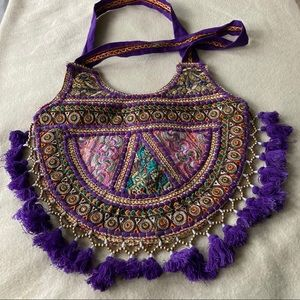 Tribe Azure Large Casual Colorful Hippie Bag
